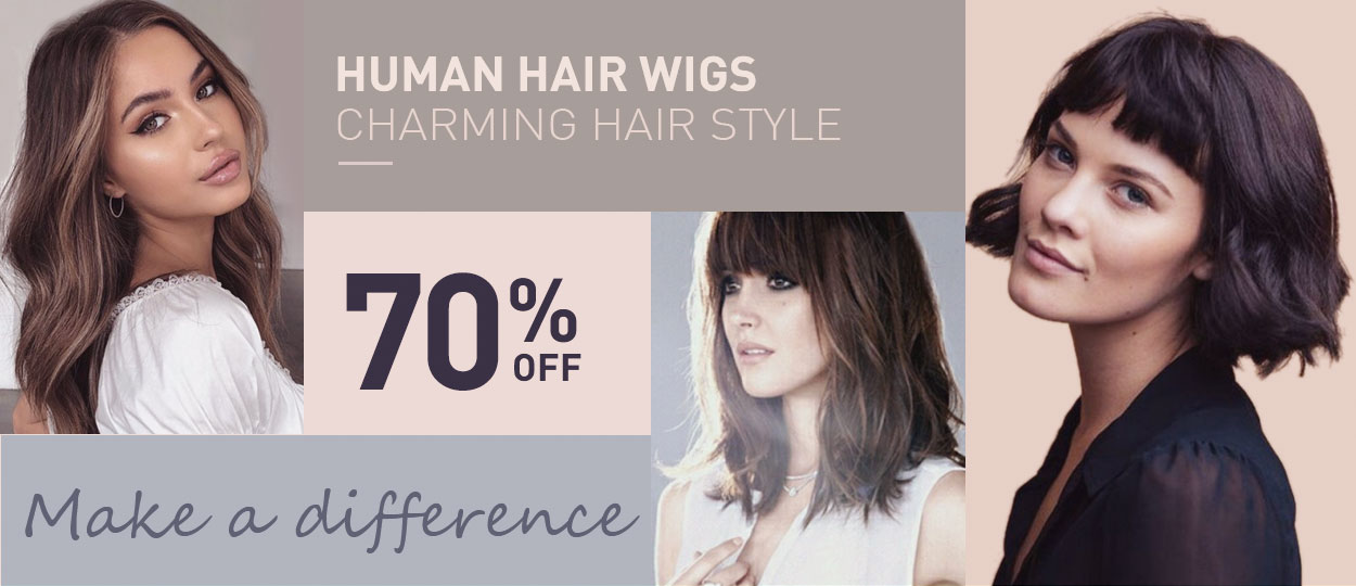 Human Hair Wigs Charming Hair Style Make a difference 70% Off