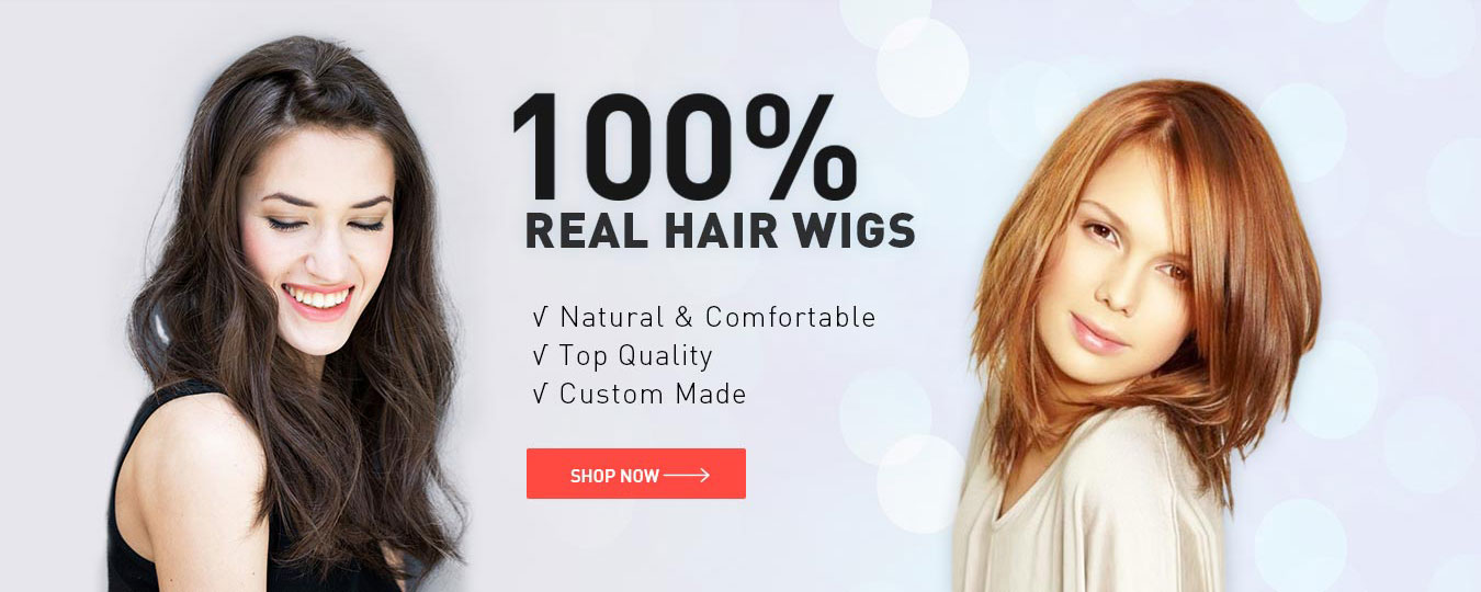 100% Real Hair Wigs