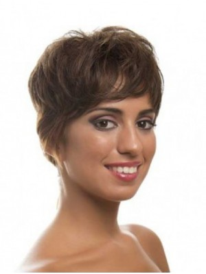 Brown Layered Trendy Wavy Full Lace Wigs