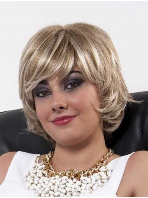 Blonde Layered Top Wavy Full Lace Wigs