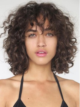 """12"""" Curly Dark Brown 360 Lace Wigs"""