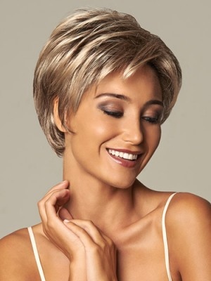 Elegant Short Length Capless Synthetic Wig