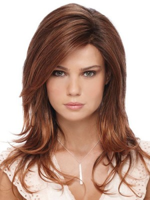 Attractive Synthetic Long Wavy Capless Wig