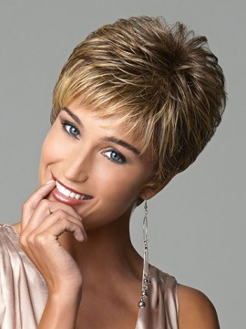 Fashionable Short Capless Synthetic Wig