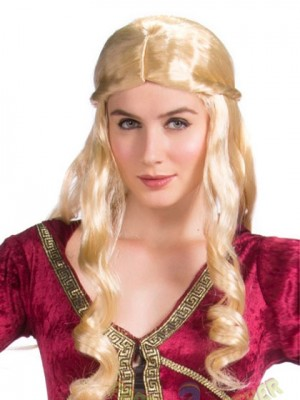 Wavy Long Blonde Synthetic Capless Cosplay Wig