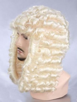 Blonde Curly Long Synthetic Capless Cosplay Wig