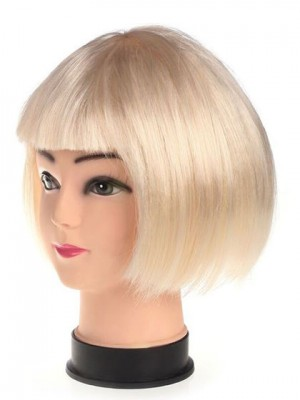 Cute Bob Short Blonde Synthetic Capless Cosplay Wig