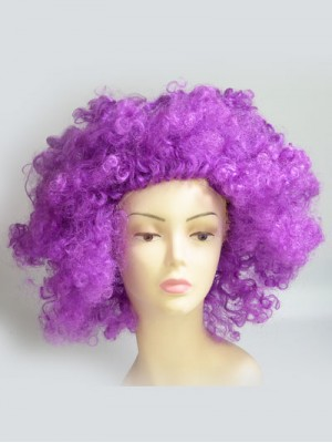 Exaggerated Purple Synthetic Capless Curly Cosplay Wig