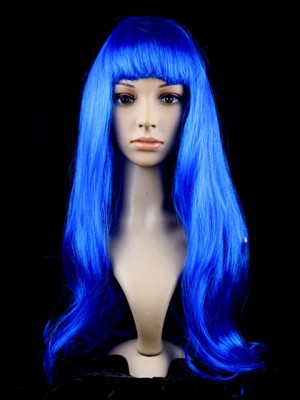 Mazarine Synthetic Capless Long Straight Cosplay Wig With Bang