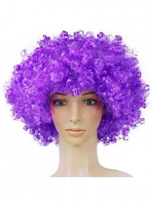 Inexpensive Purple Clown Synthetic Capless Cosplay Wig