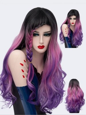 Incredible Long Wavy Synthetic Capless Cosplay Wig