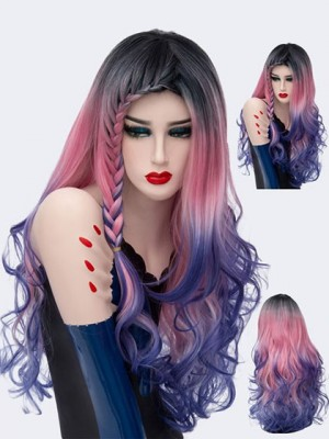 Fascinating Wavy Long Synthetic Capless Cosplay Wig