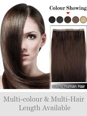 "20"" PU Skin Weft Remy Human Hair Extensions"
