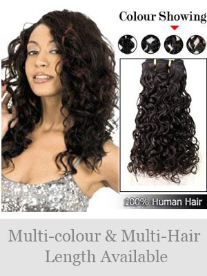Indian Remy Hair Curly Weft Extensions