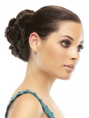 Curly Bold Style Remy Hair Bun