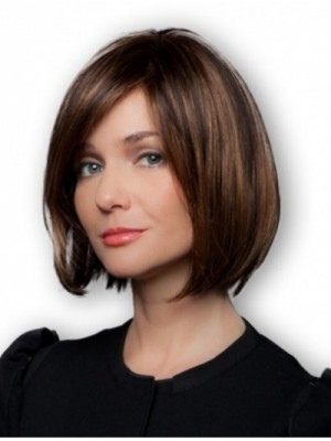 100% Hand-tied Brown Affordable Bob Wigs