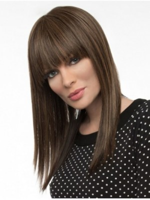 Monofilament Straight Long Human Hair Wigs