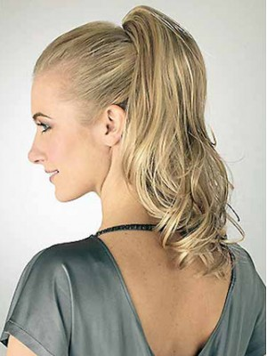 "14"" Wavy With Claw-Clip Synthetic Ponytail"