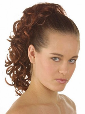 "12"" Curly With Claw Clip Synthetic Ponytail"