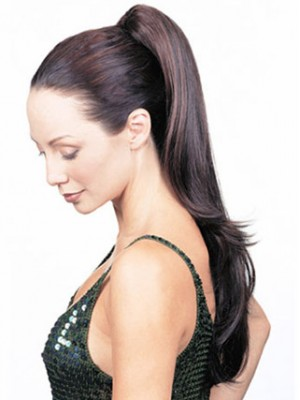 "20"" Natural Straight With Claw Comb Synthetic Ponytail"
