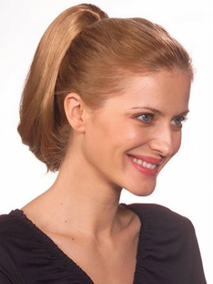 "8"" Sleek Straight Clip On Synthetic Ponytail"