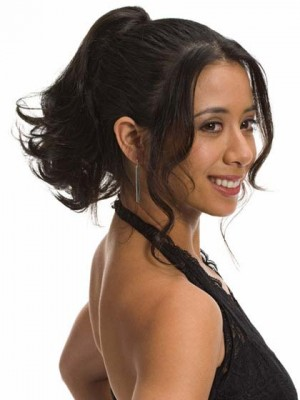 Built-in Clip Medium-Length Syenthetic Ponytail