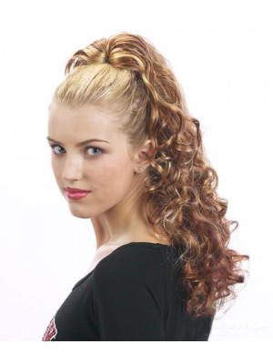"22"" Curly Synthetic Ponytail With Drawstring"