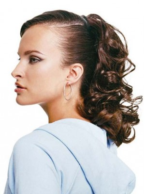 "16"" Claw Clip Curly Locks Synthetic Ponytail"