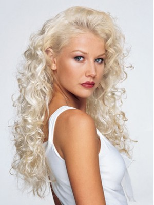 Long Curly Lightweight 3/4 Wig
