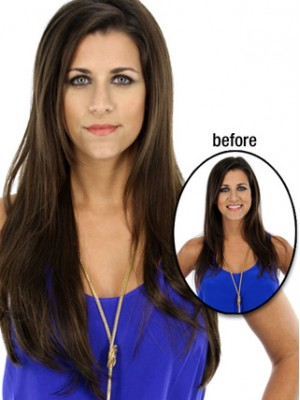 "25"" Layered Straight Hairpiece"