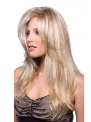 Long Accent Top Piece Wig