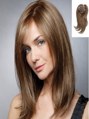 "12"" Mid-Length Top Piece Wig"