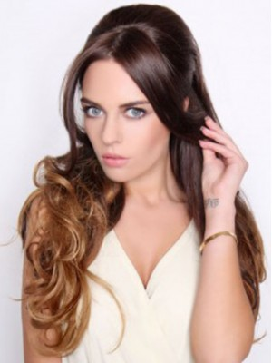 Charming Long Wavy Synthetic Half Wig