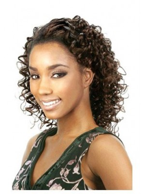 Fashion Medium Curly Synthetic Half Wig