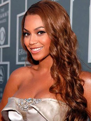 Beyonce Wavy Hairstyle Synthetic lace front wig