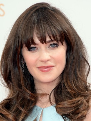 Fabled Zooey Deschanel Styling Wavy Wig