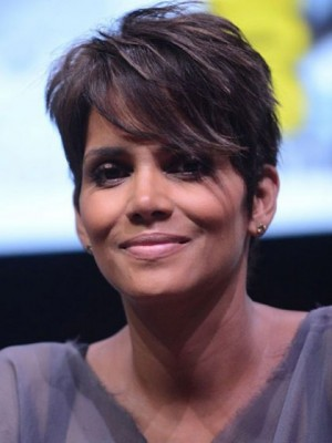 Halle Berry Hairstyle Hand Tied Mono Top Human Hair Wig
