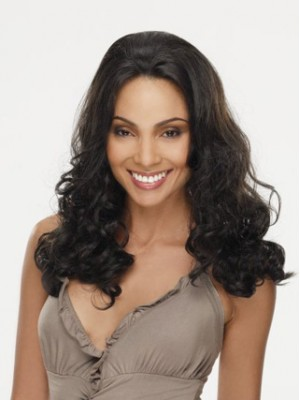 "18"" Curly Lace Front Remy Human Hair Wig"