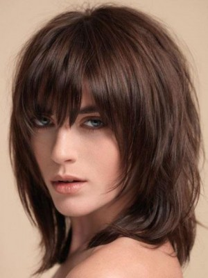 Top Quality Remy Human Hair Straight Capless Wig