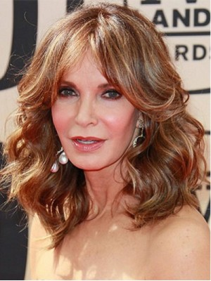 Latest Arrival Long Auburn Wavy Remy Human Hair Capless Wig