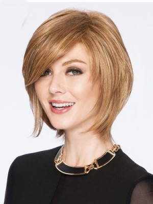 Latest Arrival Short Blonde Straight Remy Human Hair Capless Wig