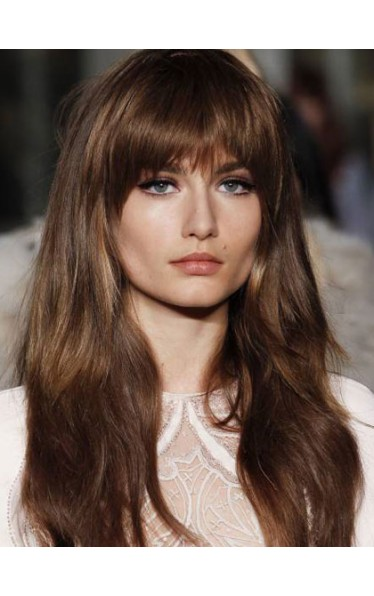 Amazing With Bangs Blonde Capless Wig