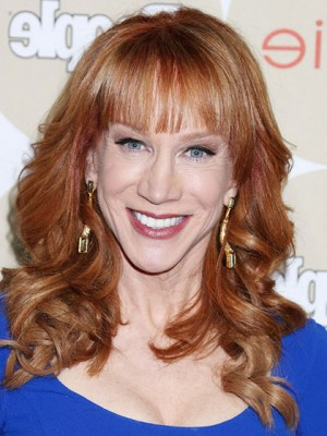 Kathy Griffin Feminine Long Curly Hairstyle Wig