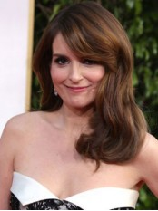 Tina Fey Long Hairstyle With Bangs Human Hair Wig