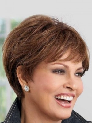 Comfortable Short Straight Capless Human Hair Wig