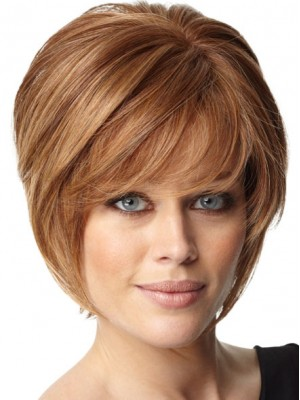 Short Soft Layers Human Hair Capless Wig