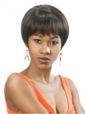 Natural Short Straight Human Hair Wig