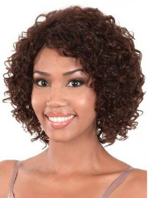 Fashion Chin-length Curly Human Hair Wig