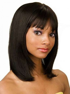 Stylish Long Straight Human Hair Wig