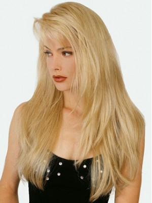 Blonde Long Straight Capless Human Hair Wig